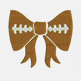 Football Bow Machine Embroidery Designs 346F