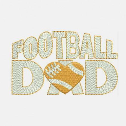 Football DaD Love heart Machine Embroidery Designs 307 D