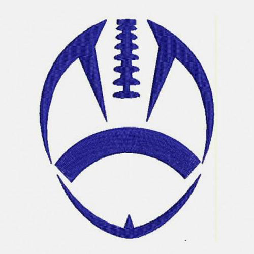 Football Machine Embroidery Design - Instant Download Filled Stitches Design 308