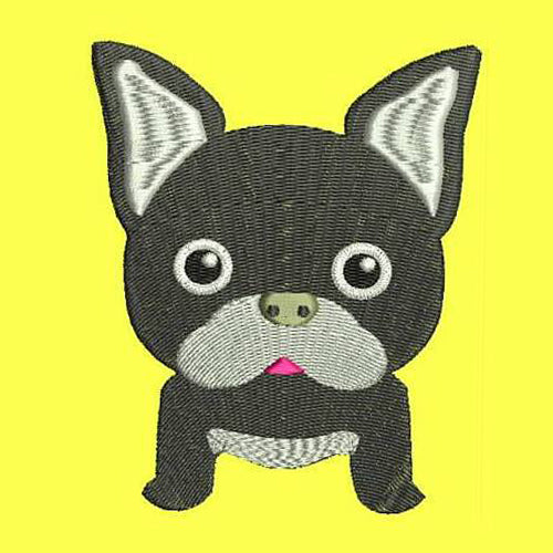 French Bulldog Machine Embroidery Designs 91