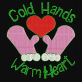 Gold Hands Warm Heart Machine Embroidery Designs 874
