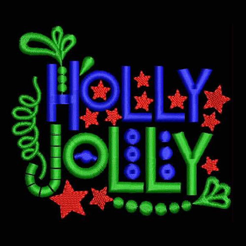 HOLLY JOLLY Machine Embroidery Designs D1007