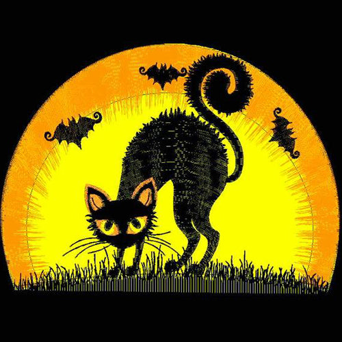 Halloween Black Cat Parade Machine Embroidery Designs
