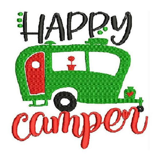 Happy Camper Machine Embroidery Designs 1809