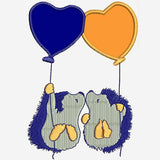 Hedgehog Kisses Machine Embroidery Designs 742