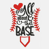 Home Plate Baseball Machine Embroidery Designs 334