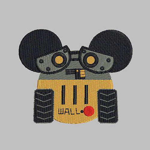 Humanoid Robot - Wall-E Machine Embroidery Designs 268