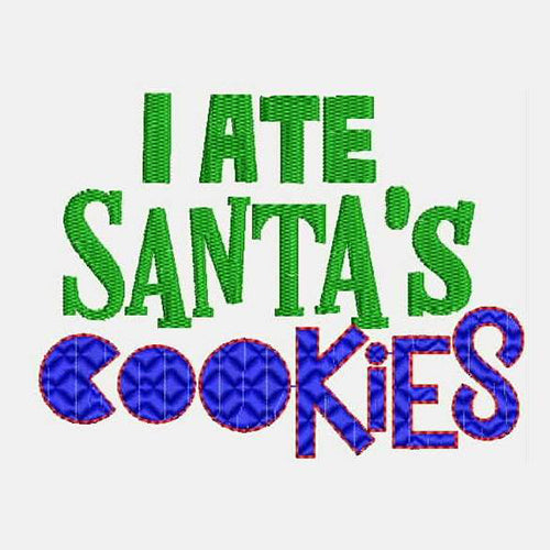 I ATE Santa's Cookies Machine Embroidery Designs D1005