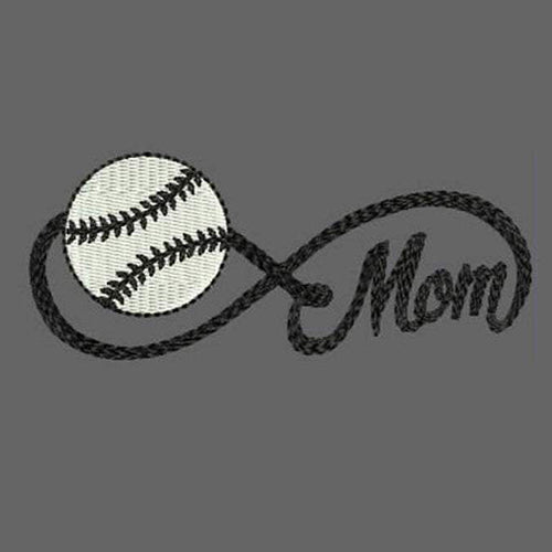 Infinity Sports Mom with Baseball Machine Embroidery Designs 319 B