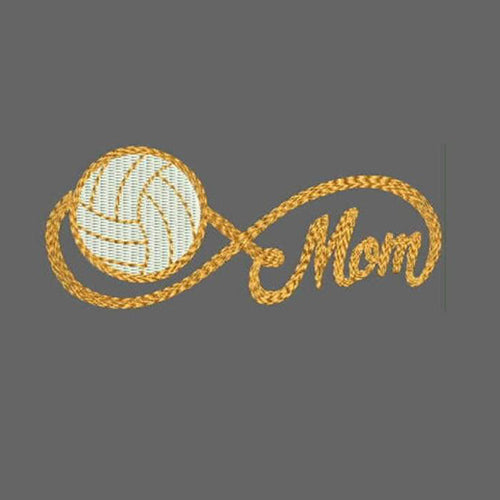 Infinity Sports Mom with Football Machine Embroidery Designs 319 D