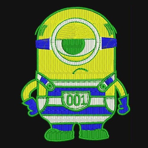 Jail House Minion Machine Embroidery Designs 897
