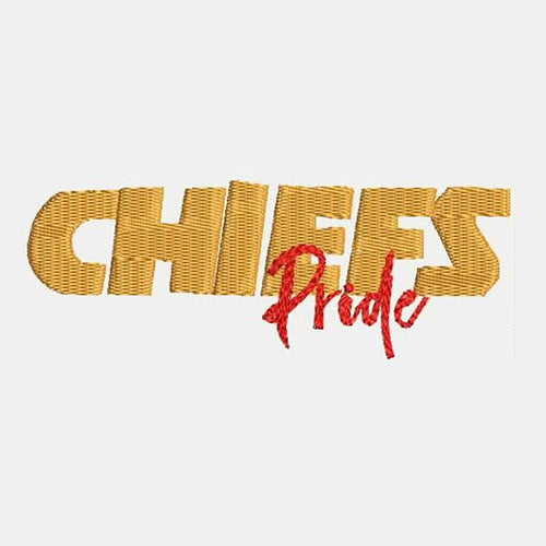 Kansas City Chiefs Pride Tag Machine Embroidery Designs 383D