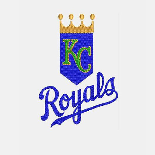 Kansas City Royals Logo 1 Machine Embroidery Designs 974