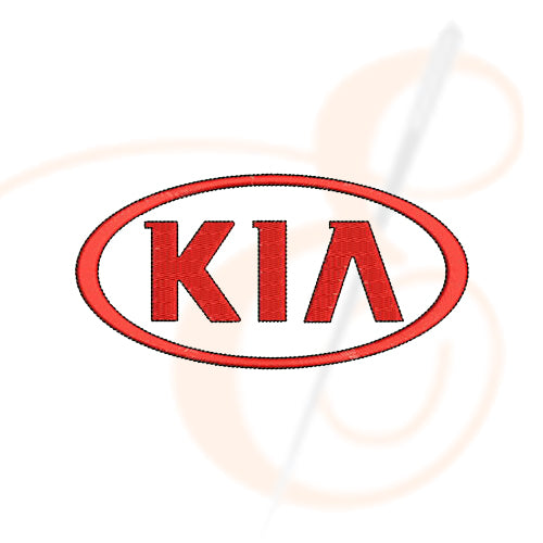 Kia Logo Machine Embroidery Designs