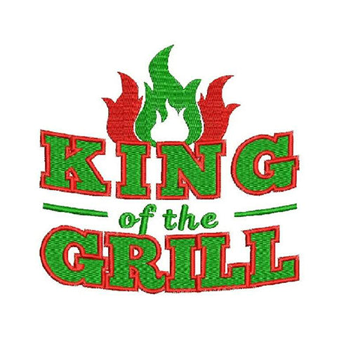 King Of The Grill Machine Embroidery Designs 1589