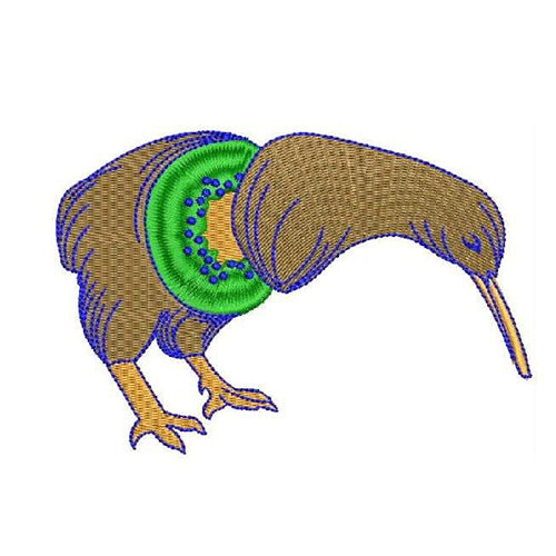 Kiwi Anatomy Machine Embroidery Designs 1230