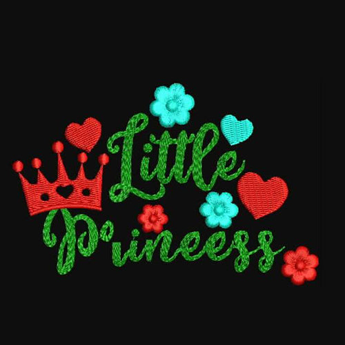 Little Princess Machine Embroidery Designs 893