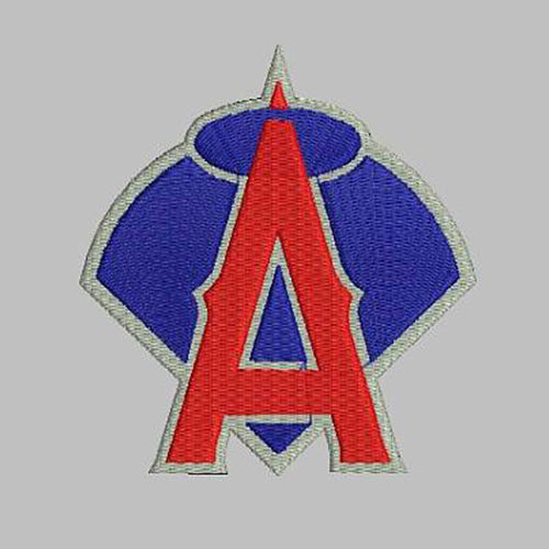 Los Angeles Anaheim Angels baseball Logo Machine Embroidery Designs D472