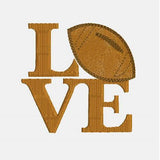 Love Football Machine Embroidery Designs - Sports Patterns 340 D