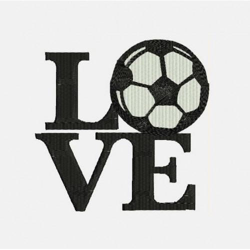 Love Soccer Machine Embroidery Designs 340 B