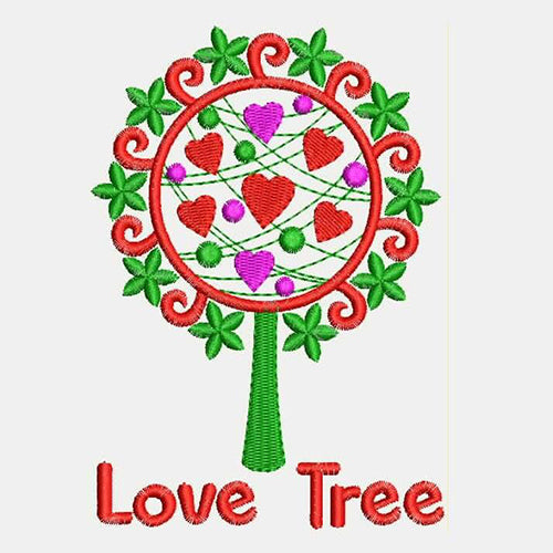 Love Tree Machine Embroidery Designs 961