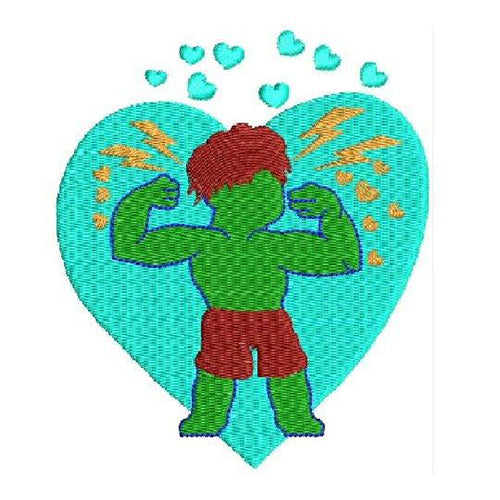 Marvel Avengers - Hulk & Black Widow Machine Embroidery Designs 1295A
