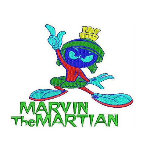 Marvin the Martian Machine Embroidery Designs 1278