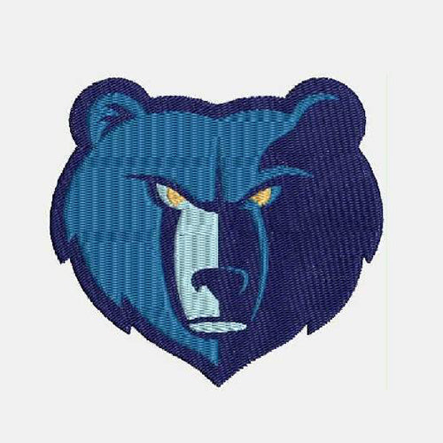 Memphis Grizzlies Logo 2 Filled Stitches Design 969