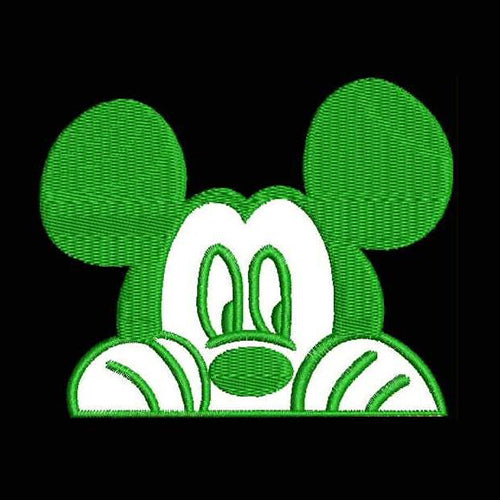 Mickey Disney Car Decal Filled Stitches Design 850F