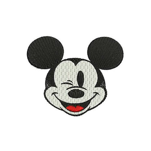 Mickey Mouse Face Machine Embroidery Designs 104