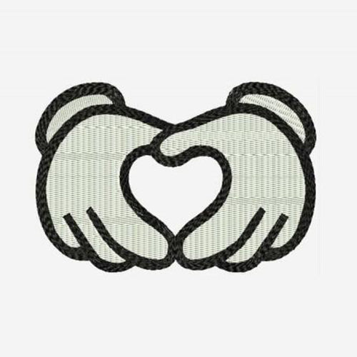 Mickey Mouse Heart Love Hands Machine Embroidery Designs 99