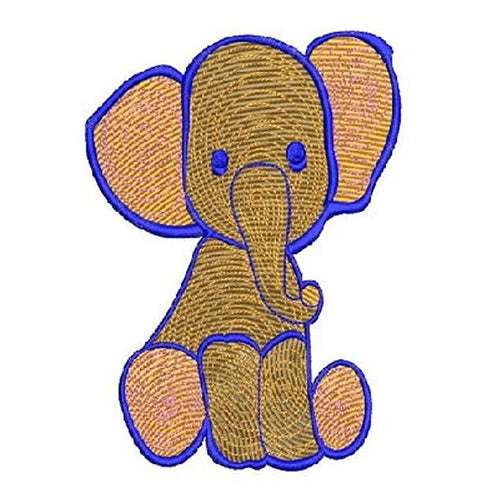 Mini Elephant Embroidery Design - Machine embroidery Digital Download File - Design 2109