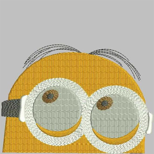 Minions Face Machine Embroidery Designs 40