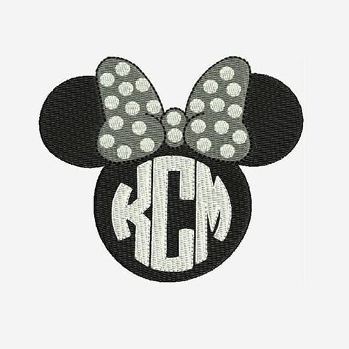 Minnie Mouse Monogram Tank Machine Embroidery Designs 125