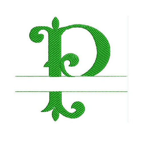 Monogram Fonts Letter P Machine Embroidery Designs 1430
