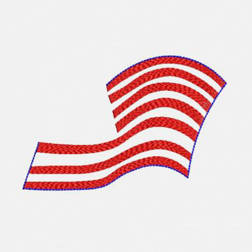 Monogram Frame American Flag Waving Machine Embroidery Designs 326A