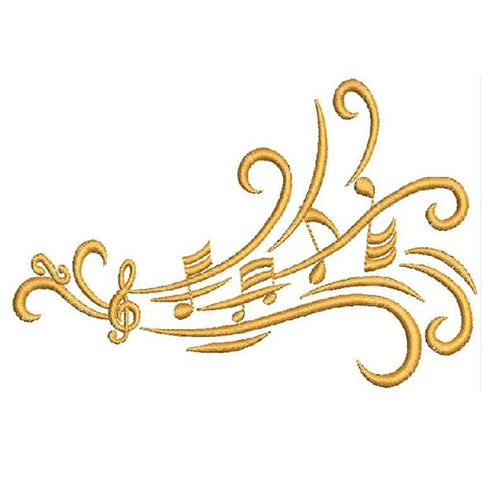 Music Notes Machine Embroidery Designs