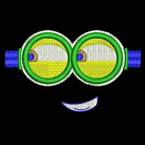 Naughty Minion Eyes Funny Logo Machine Embroidery Designs 903