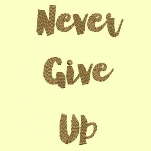 Never Give Up - Machine Embroidery Designs 272