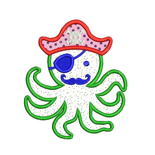 Octopus Pirate Machine Embroidery Designs 2012