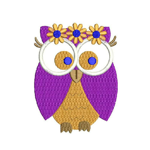 Owl Machine Embroidery Designs 1955