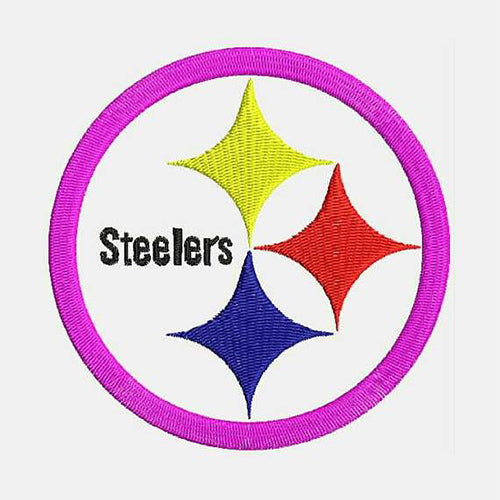 Pittsburgh Steelers Round Shape Machine Embroidery Designs 381F