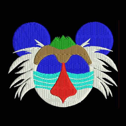 Rafiki Mouse Head Machine Embroidery Designs 798