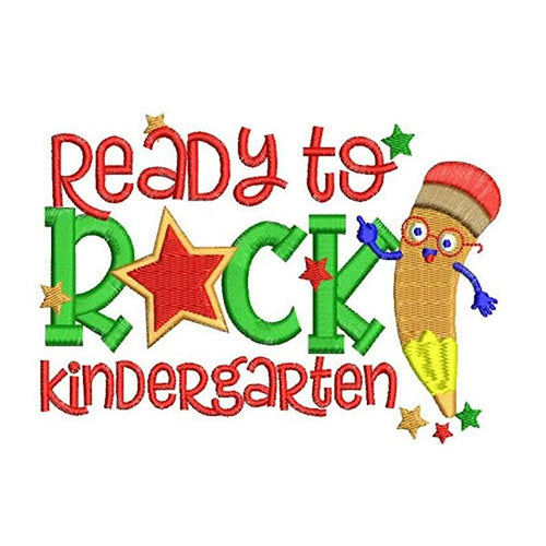 Ready 2 Rock Kindergarten Machine Embroidery Designs 2165