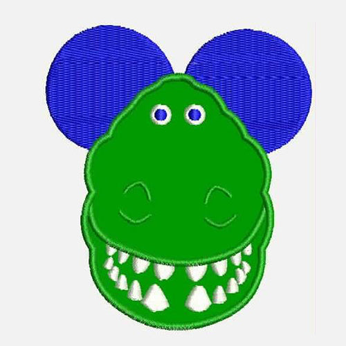 Rex Mouse Head Machine Embroidery Designs 839