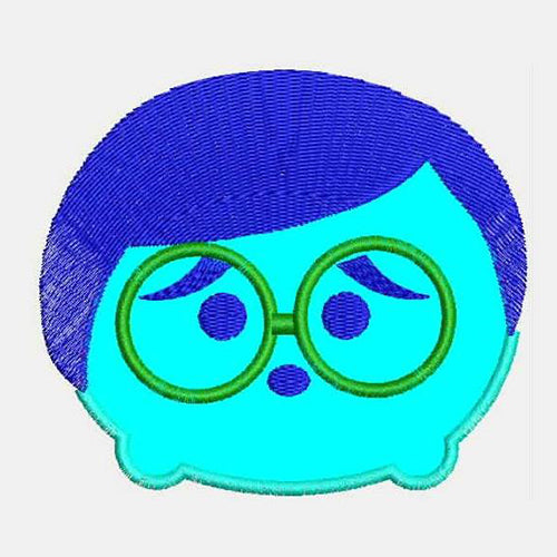 Sadness Tsum Tsum Applique Machine Embroidery Designs 793