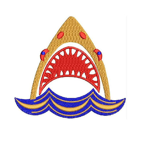 Shark Jaw Machine Embroidery Designs 1634
