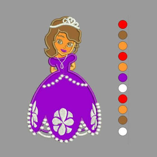Sofia Princess Machine Embroidery Designs 378