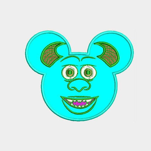 Sully Mouse Ears Machine Embroidery Designs 829