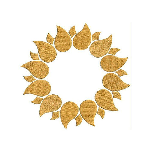 Sunflower Monogram Machine Embroidery Designs 1372